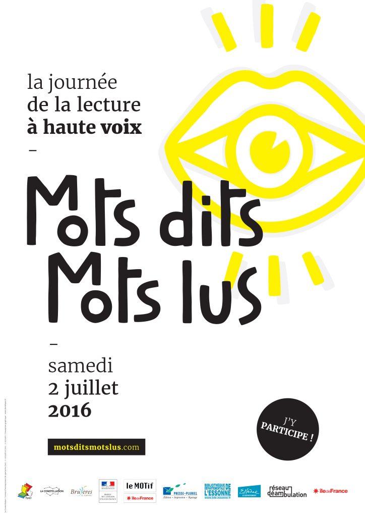 Mots dits Mots lus 2016 - affiche A2 420x594mm - 2.indd